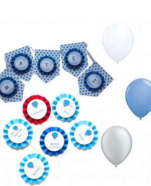 ghirlanda decorativa, baloane latex, props candy bar